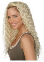 Attractive Wavy Capless Long Synthetic 3/4 Wig