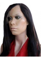 Long Silky Straight Remy Human Hair U Part Wig