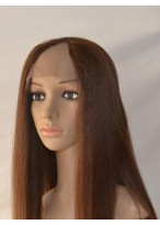 Long Straight Lace Front Human Hair U Part Wig