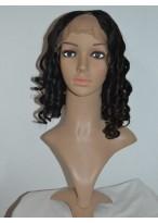 Shoulder Length Wavy Remy Human Hair U Part Wig