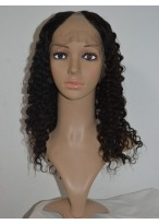Fabulously Spiral Curls Remy Hair U Part Wig