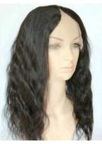 Fluffy Wavy Human Hair U Part Wig
